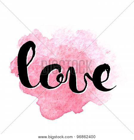 Love Hand Lettering Elegant Card