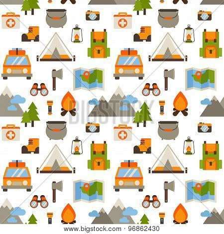 Hiking Seamless Pattern