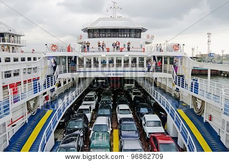 Cars Transported By Ferry