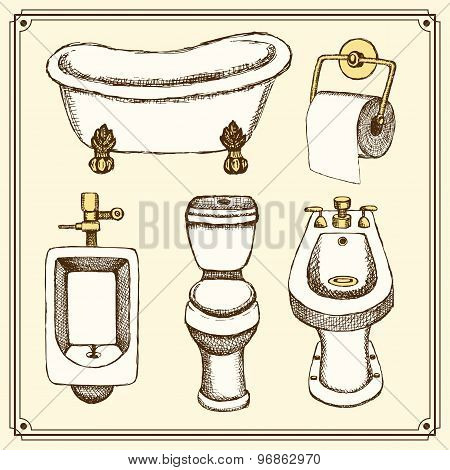 Sketch Bathroom And Toilet Equipment