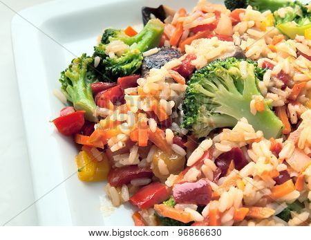 Vegetable mix on the plate