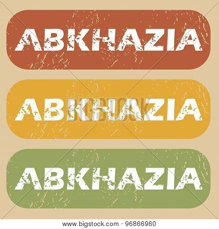 Vintage Abkhazia stamp set
