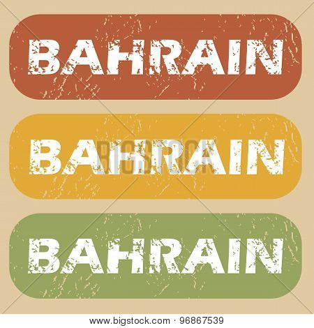 Vintage Bahrain stamp set
