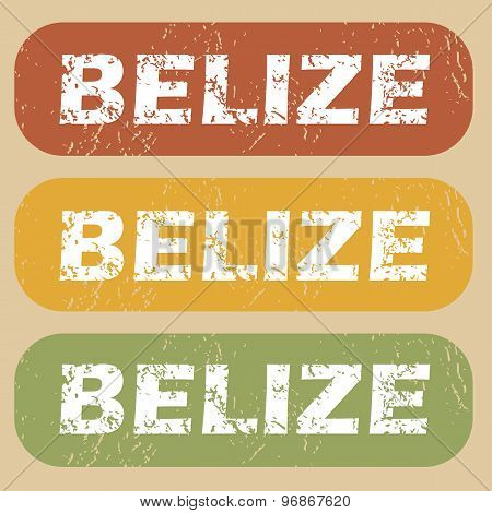 Vintage Belize stamp set