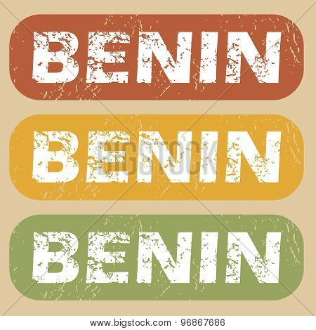 Vintage Benin stamp set