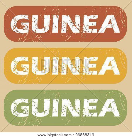 Vintage Guinea stamp set