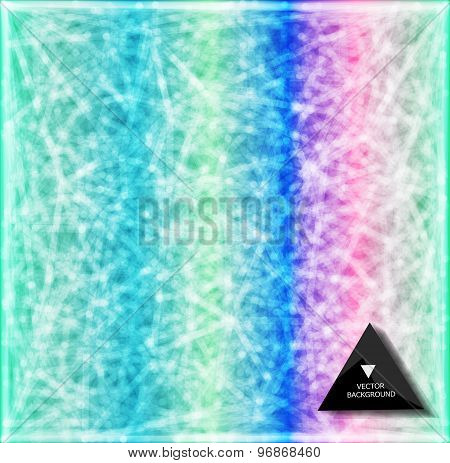 Abstract rainbow web bacground. Triangles background.