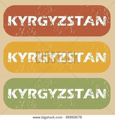 Vintage Kyrgyzstan stamp set