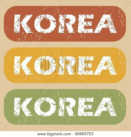 Vintage Korea stamp set