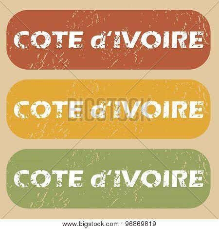 Vintage Cote d Ivoire stamps