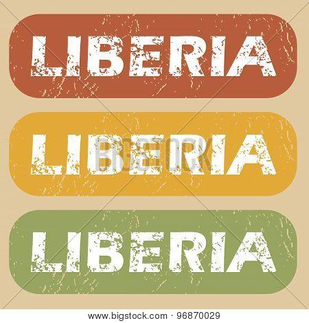 Vintage Liberia stamp set