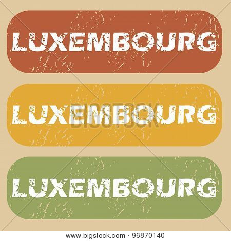 Vintage Luxembourg stamp set