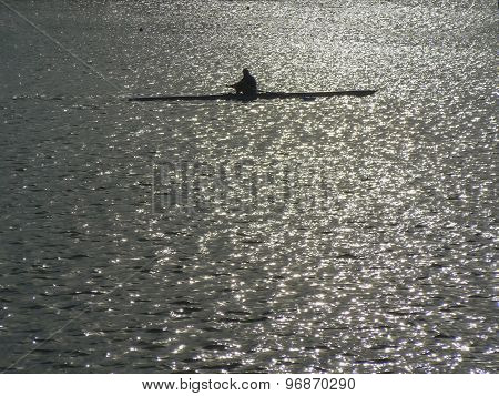 A Rower In A Lake
