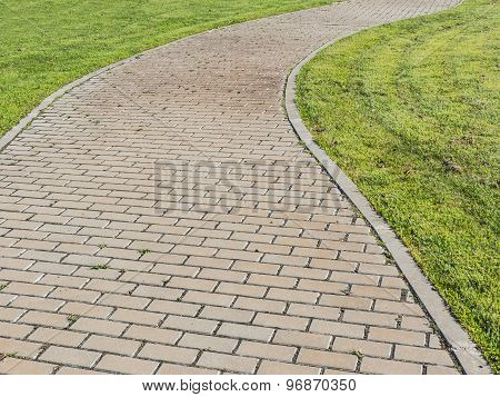 Curvy Urban Path