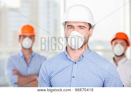 Handsome builders are working on a new building
