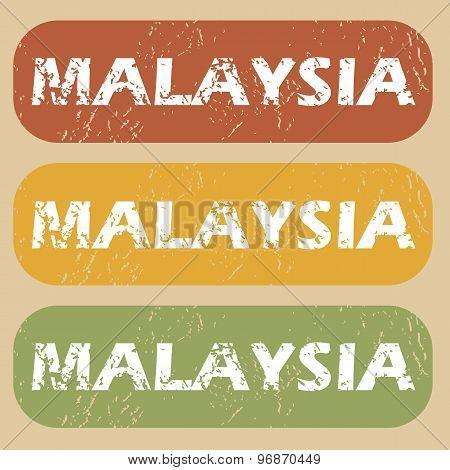 Vintage Malaysia stamp set