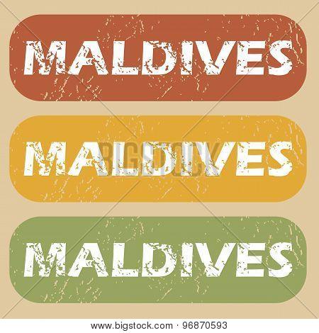 Vintage Maldives stamp set