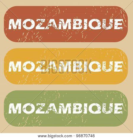 Vintage Mozambique stamp set
