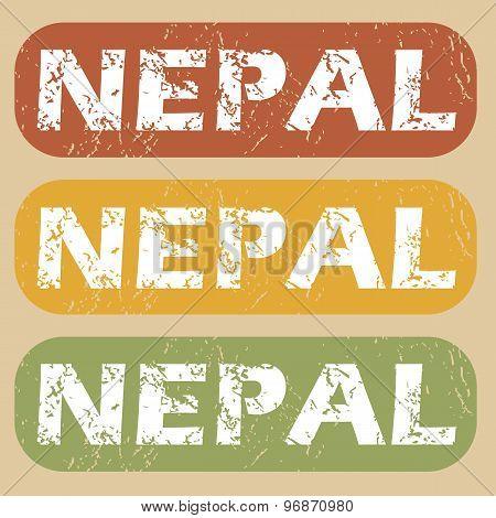 Vintage Nepal stamp set
