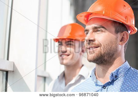 Attractive builders are dreaming about future development of building