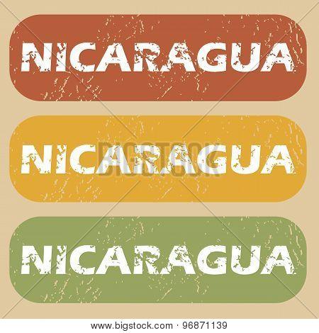 Vintage Nicaragua stamp set
