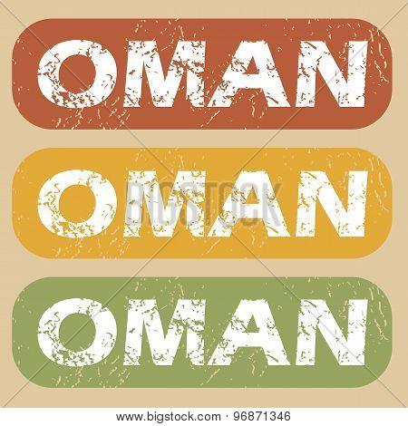 Vintage Oman stamp set