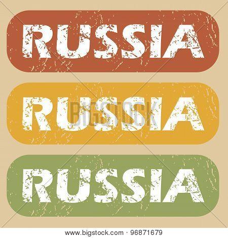 Vintage Russia stamp set