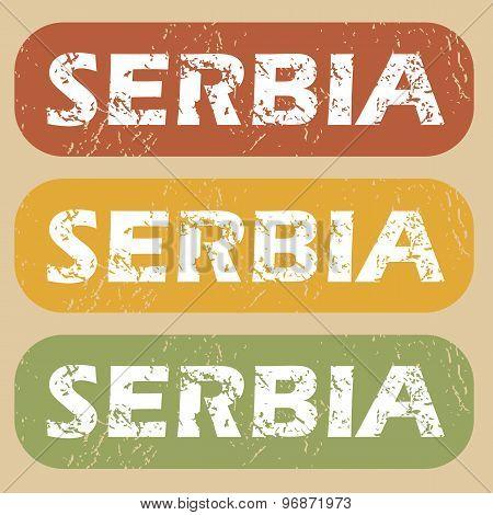 Vintage Serbia stamp set