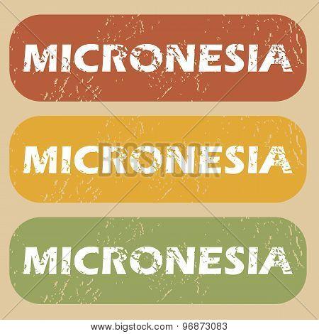 Vintage Micronesia stamp set