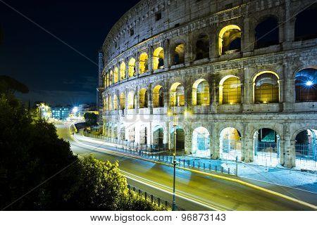 Majestic Evening Coliseum, Rome, Italy