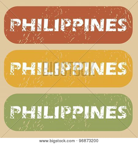 Vintage Philippines stamp set
