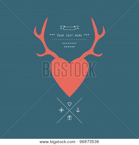 Antlers. Isolated