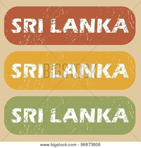 Vintage Sri Lanka stamp set