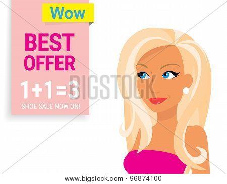 Smiling fashion blonde woman