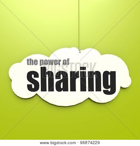 White Cloud With The Power Of Sharing