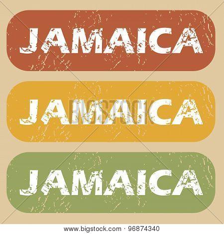 Vintage Jamaica stamp set