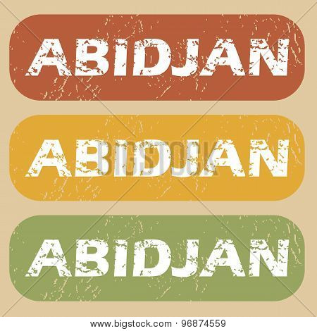 Vintage Abidjan stamp set