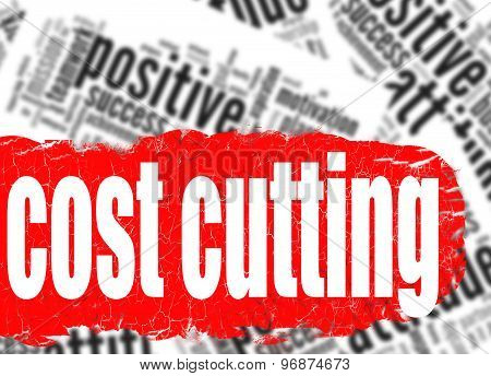 Word Cloud Cost Cutting