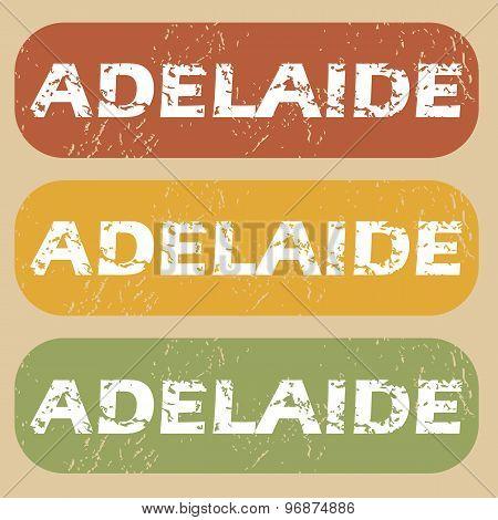 Vintage Adelaide stamp set