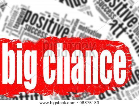 Word Cloud Big Chance