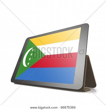 Tablet With Comoros Flag