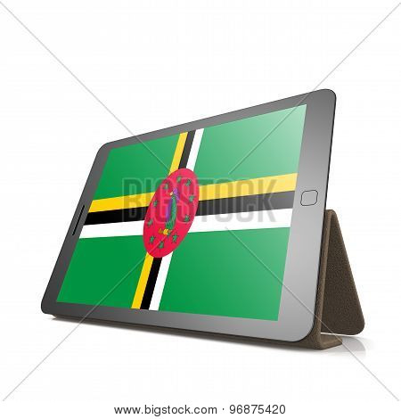 Tablet With Dominica Flag