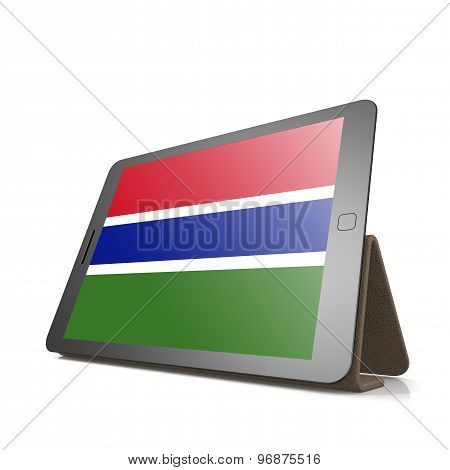 Tablet With Gambia Flag