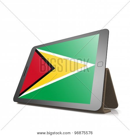 Tablet With Guyana Flag