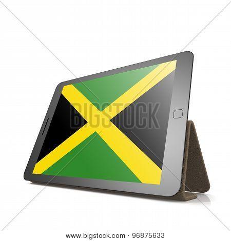 Tablet With Jamaica Flag