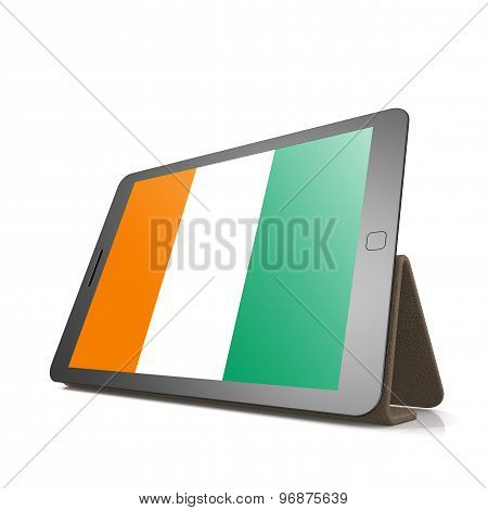 Tablet With Ivory Coast Flag