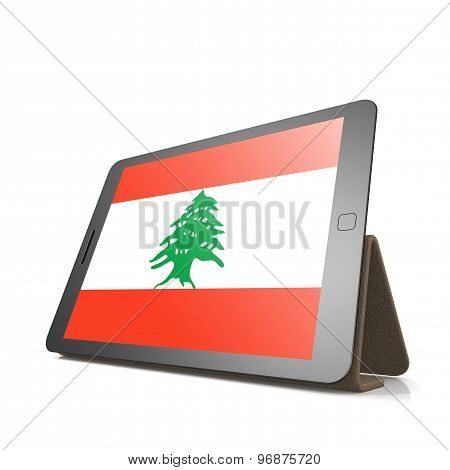 Tablet With Lebanon Flag