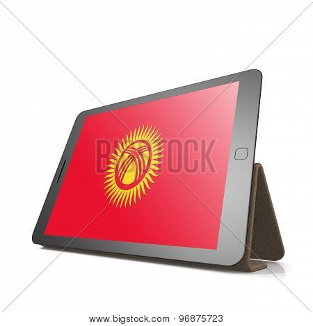 Tablet With Kyrgyzstan Flag