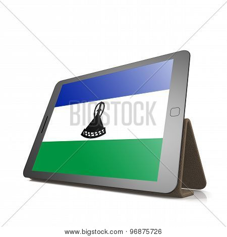 Tablet With Lesotho Flag