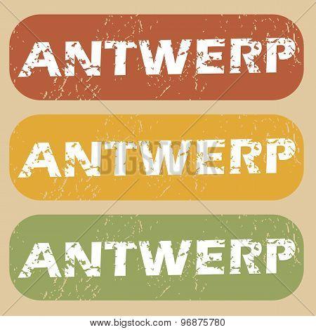 Vintage Antwerp stamp set